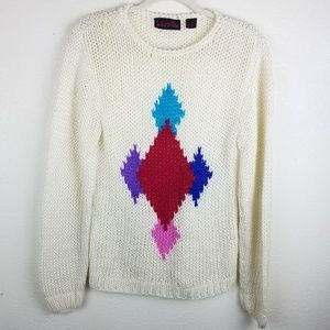 Vintage Holiday Thick Knit Cream Sweater